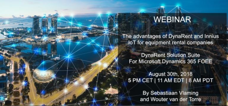 Webinar: The advantages of DynaRent and Innius IoT for equipment rental companies