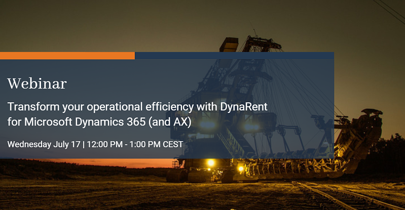 Transform your operational efficiency with DynaRent based on Dynamics 365 (and AX)
