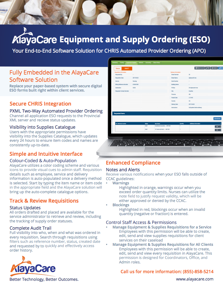 Equipment & Supply Ordering