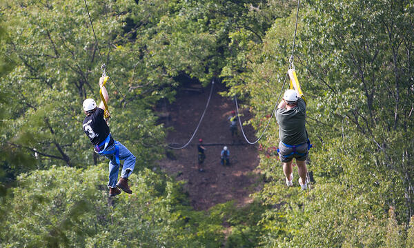 ziplining business retreat