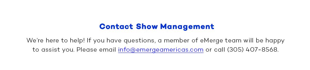Contact show management