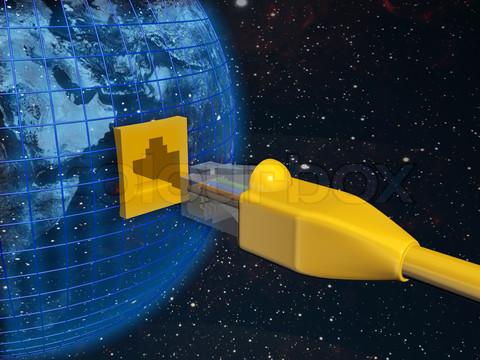 -a-ethernet-connected-globe-3d-rendered-illustration