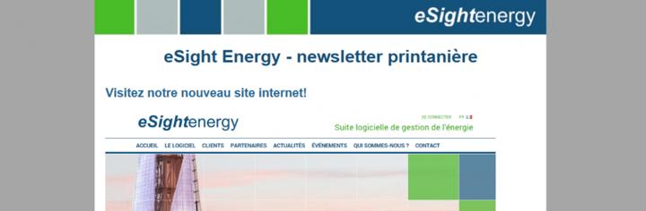 Newsletter printanière d'eSight Energy