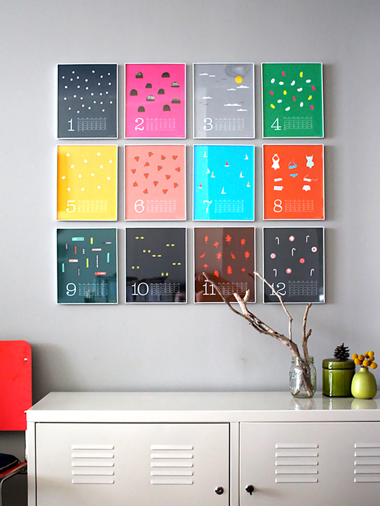 DIY home decor illustrated calendar
