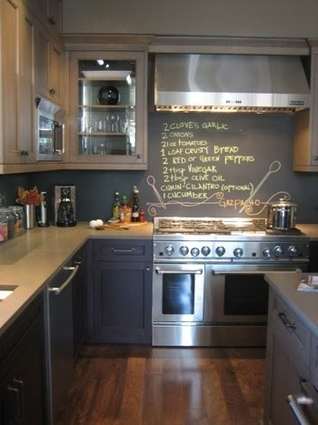 DIY kitchen remodel chalkboard paint