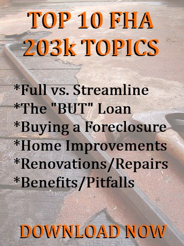 top 10 fha topics for 203k candidate free ebook