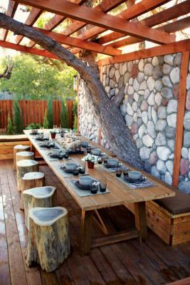 pinterest rustic deck dining