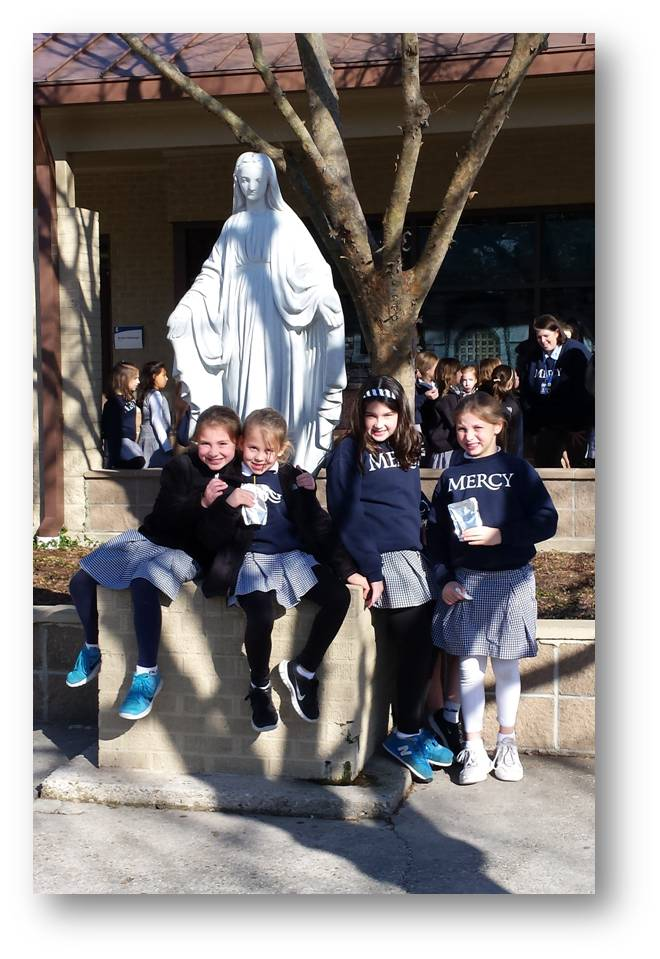 Students at Our Lady of Mercy School in Baton Rouge, LA., 2015.