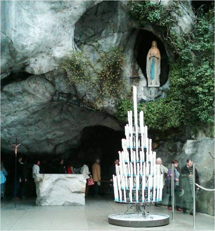Feast of Our Lady of Lourdes – Grotto in Lourdes, France
