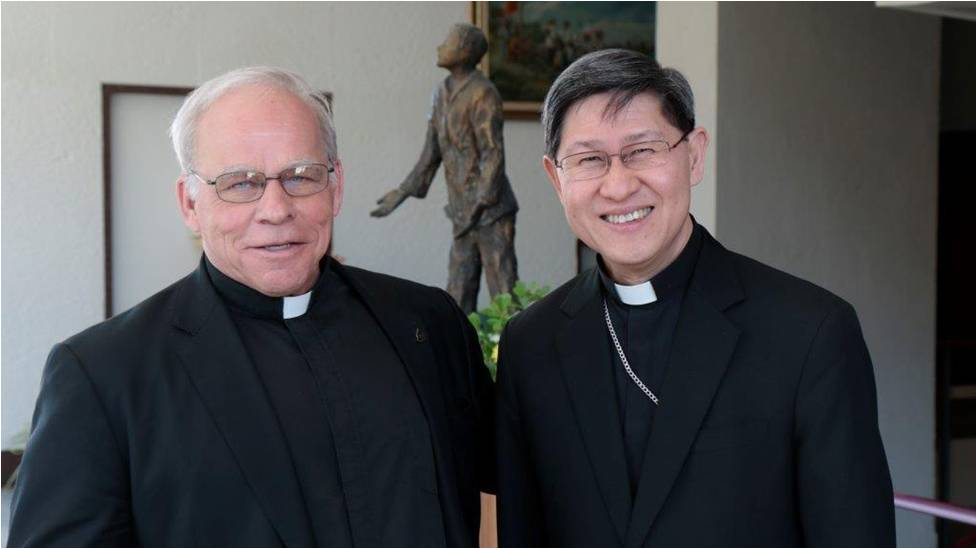Father Willy and long time friend of Family Rosary Cardinal Tagle.