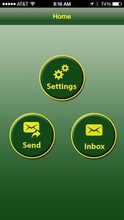 smiley-messenger-home-screen