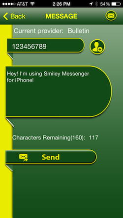 smiley-messenger-send-screen