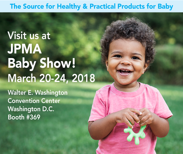 Visit us at JPMA Baby Show! March 20-24, 2018