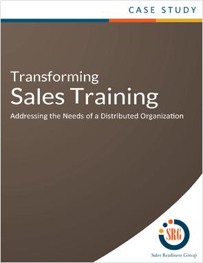 Transforming Sales Training