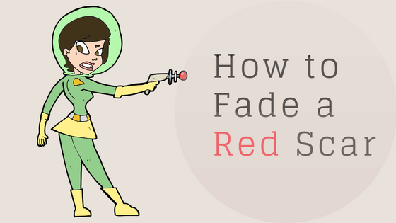 How to fade a red scar