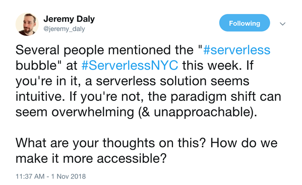 tweet-jeremy-daly-serverless-bubble