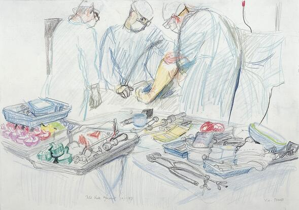 A_surgical_operation_total_knee_replacement._Drawing_by_Vir_Wellcome_L0028360.jpg