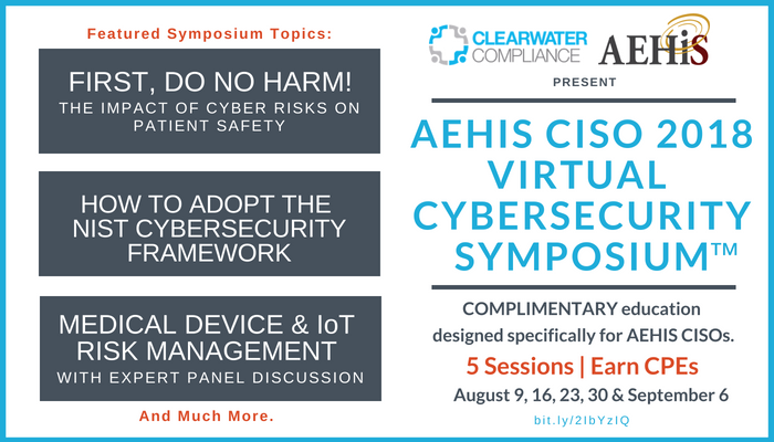 Clearwater AEHIS 2018 Cybersecurity Symposium