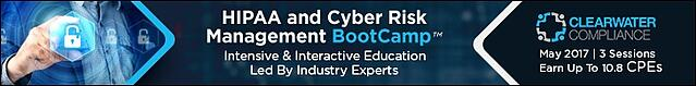 Clearwater's May 2017 HIPAA & Cyber Risk Bootcamp