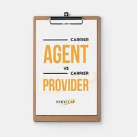 Carrier Agent vs. Carrier Provider Comparison Chart
