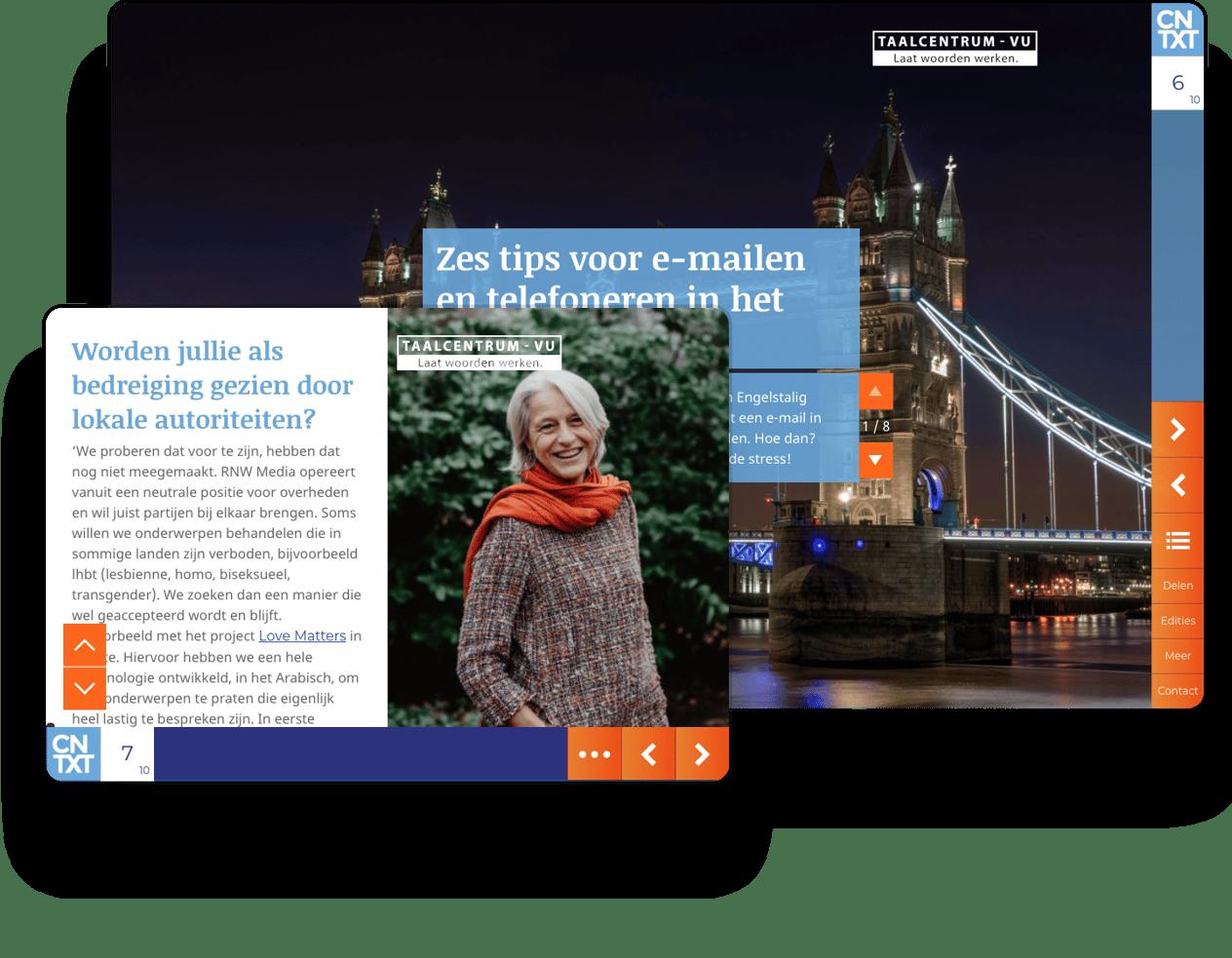 Interactive newsletter example