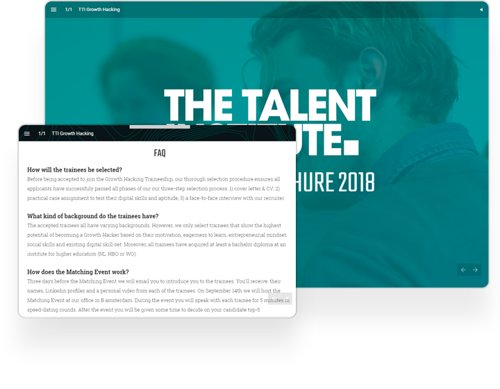 The Talent Institute Interactive Brochure Example