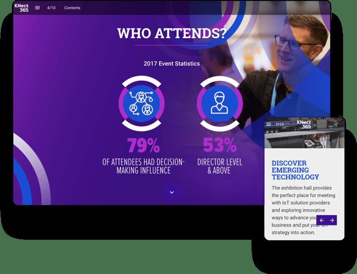 interactive event magazine example KNect365