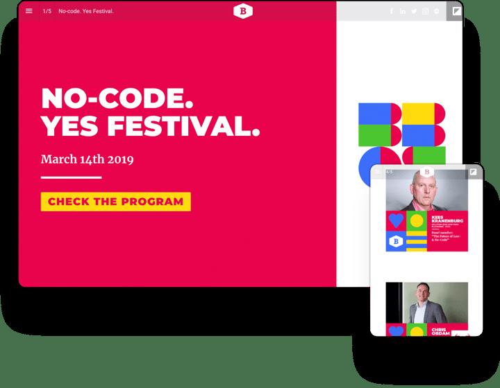 interactive example eventmagazine betty blocks