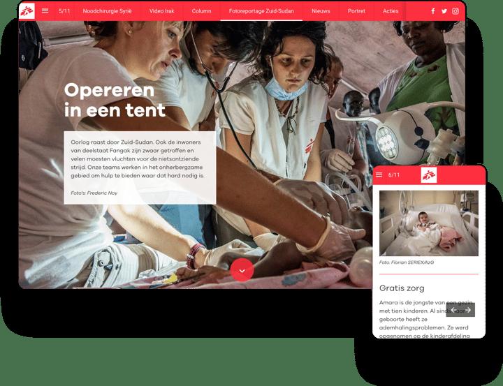 interactive magazine example artsen zonder grenzen