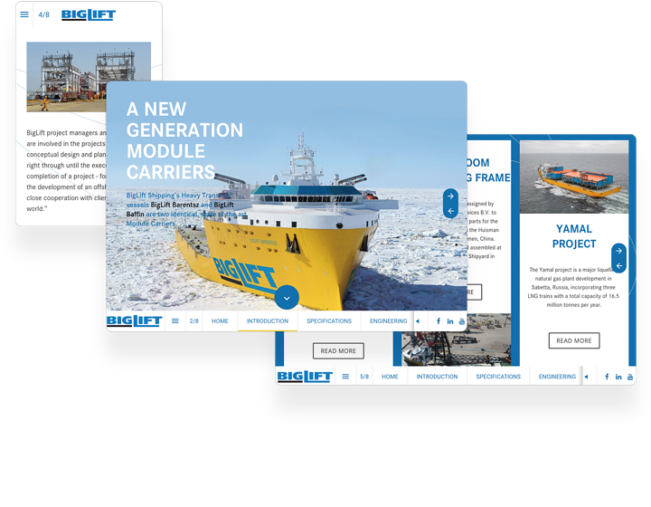 Big Lift Shipping Interactieve Catalogus Voorbeeld