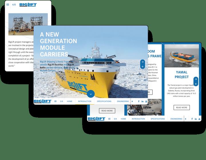 Big Lift Shipping Interactieve Catalogus Voorbeeld