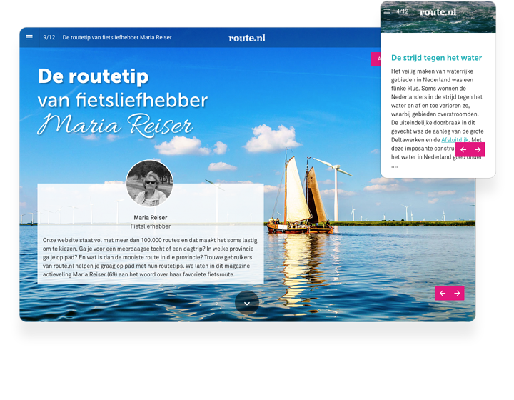 Route.nl Interactive Magazine Example