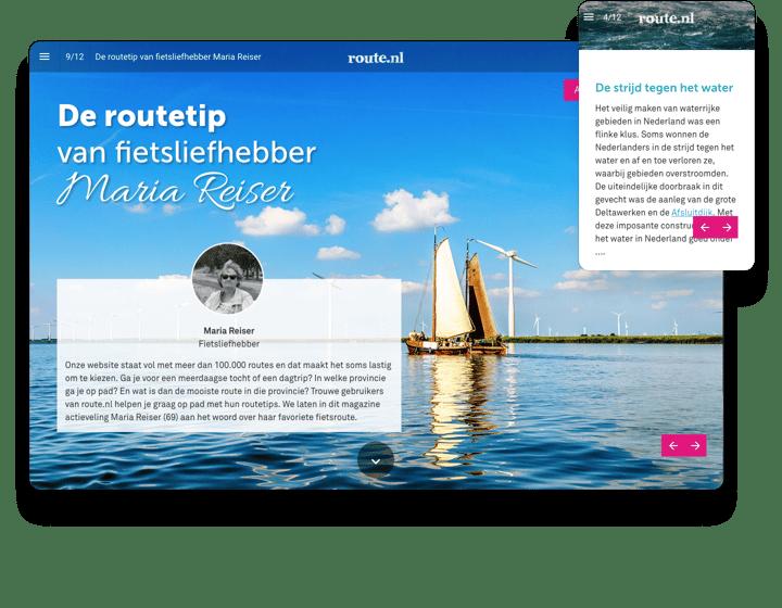 Route.nl Interactive Magazine Example