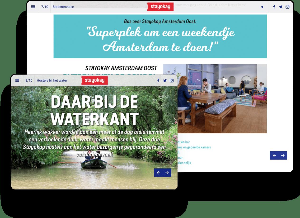 interactive magazine example stayokay