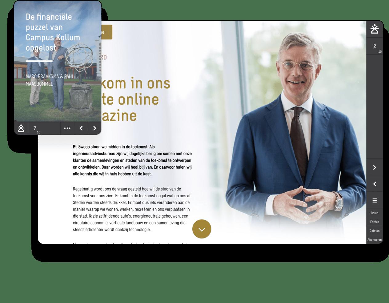 Interactive online magazine example