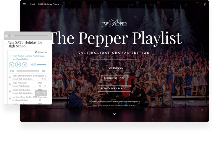 JW Pepper Interactive Music Catalog Example