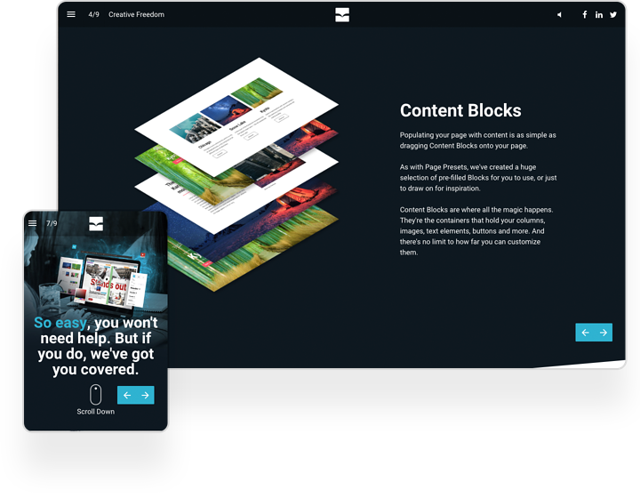 Instant Magazine Interactive Newsletter Example