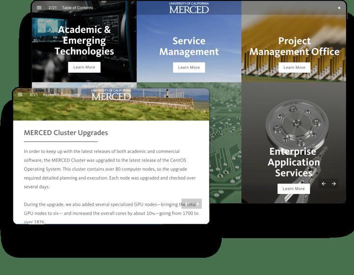 UC Merced Interactief Jaarverslag Voorbeeld