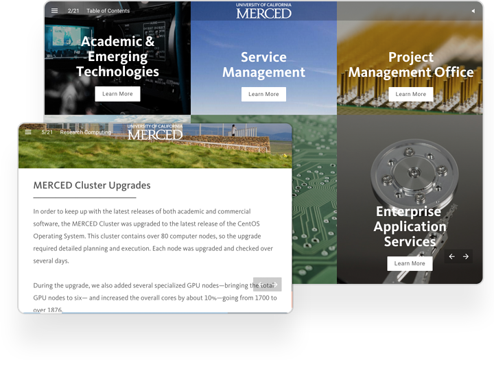 UC Merced Interactive Report Example