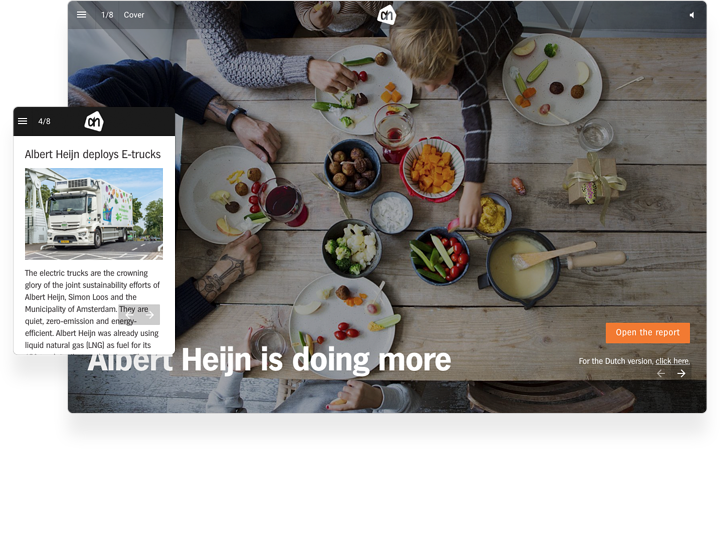 Albert Heijn Interactive Annual Report Example