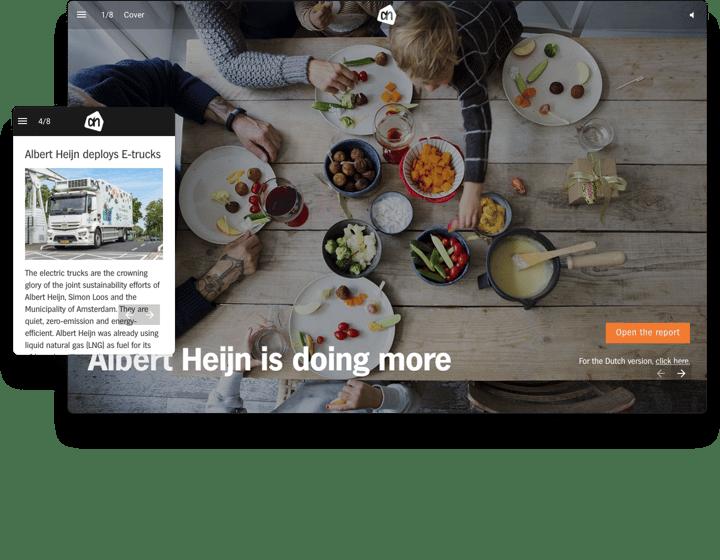 Albert Heijn Interactive Annual Report Example