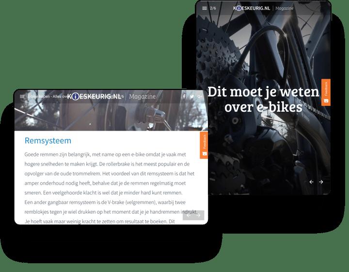 Kieskeurig Interactive Magazine Example
