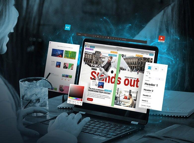 Productbrochure Drag & Drop-editor