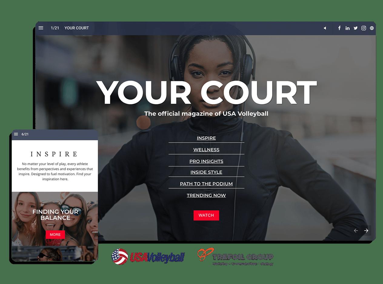 Hoe USA Volleyball met een digitaal magazine de aandacht trekt van jonge atleten en topprofessionals