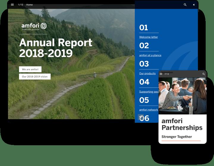 interactive example annual report amfori