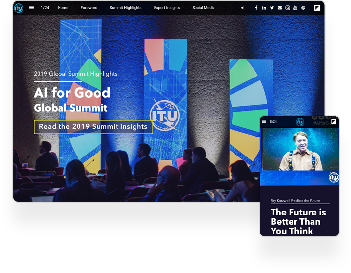 interactive example event magazine ITU