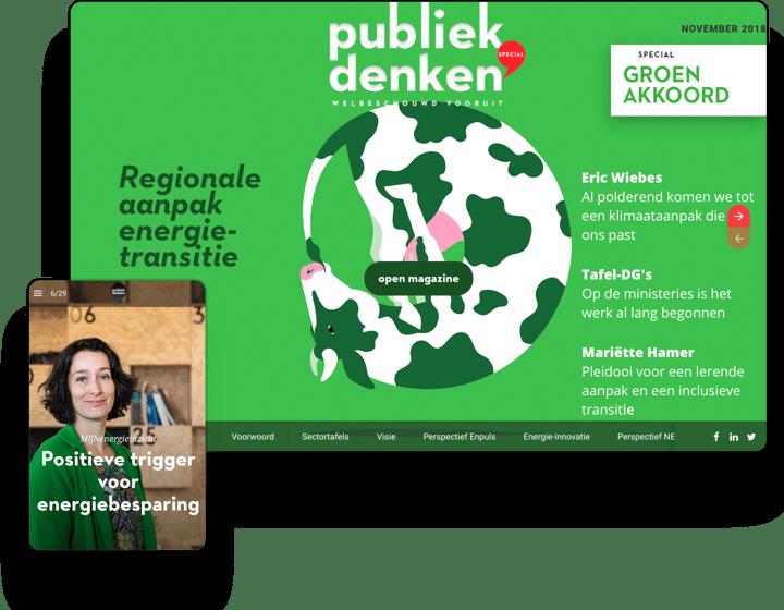 Examples of interactive magazines, brochures, newsletters