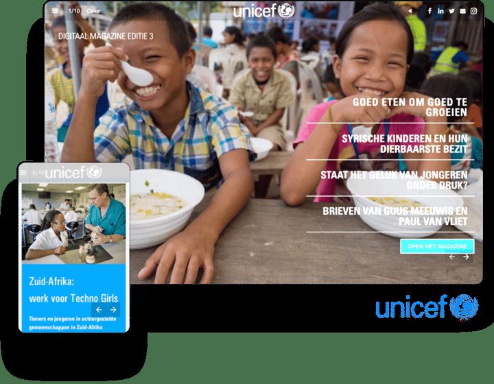 interactive example magazine unicef