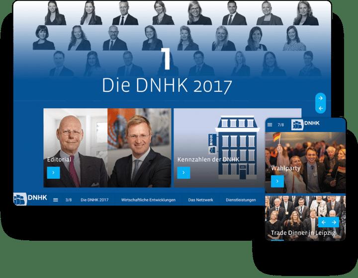 interactive magazine example DNHK