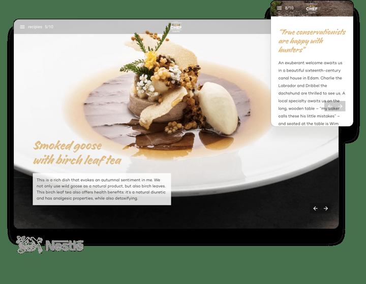 interactive magazine example i am chef